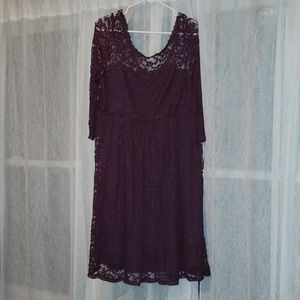 Torrid Purple lace empire dress